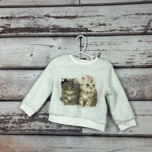 H&M sherpa soft kitty sweatshirt new with tags